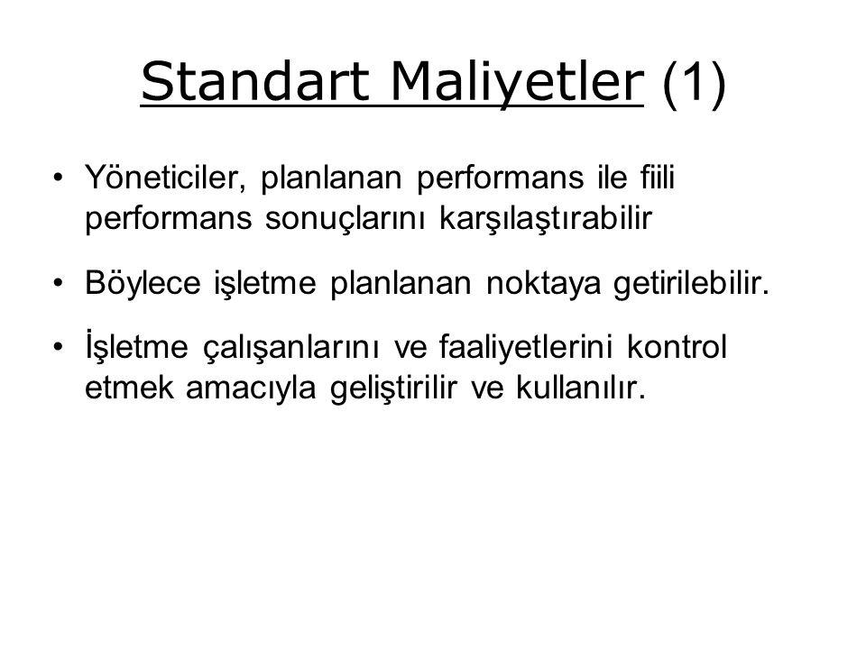 Standart Maliyetler (1)