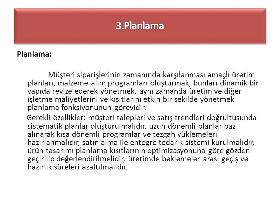 3.Planlama
