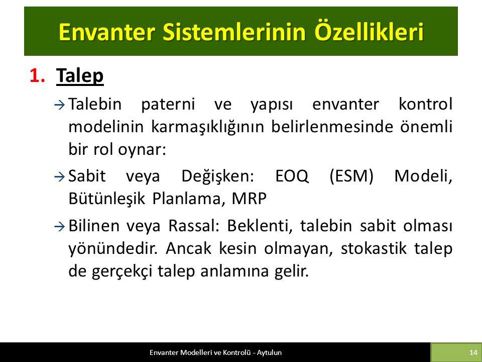 Envanter Sistemlerinin Özellikleri