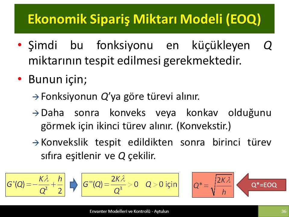 Ekonomik Sipariş Miktarı Modeli (EOQ)