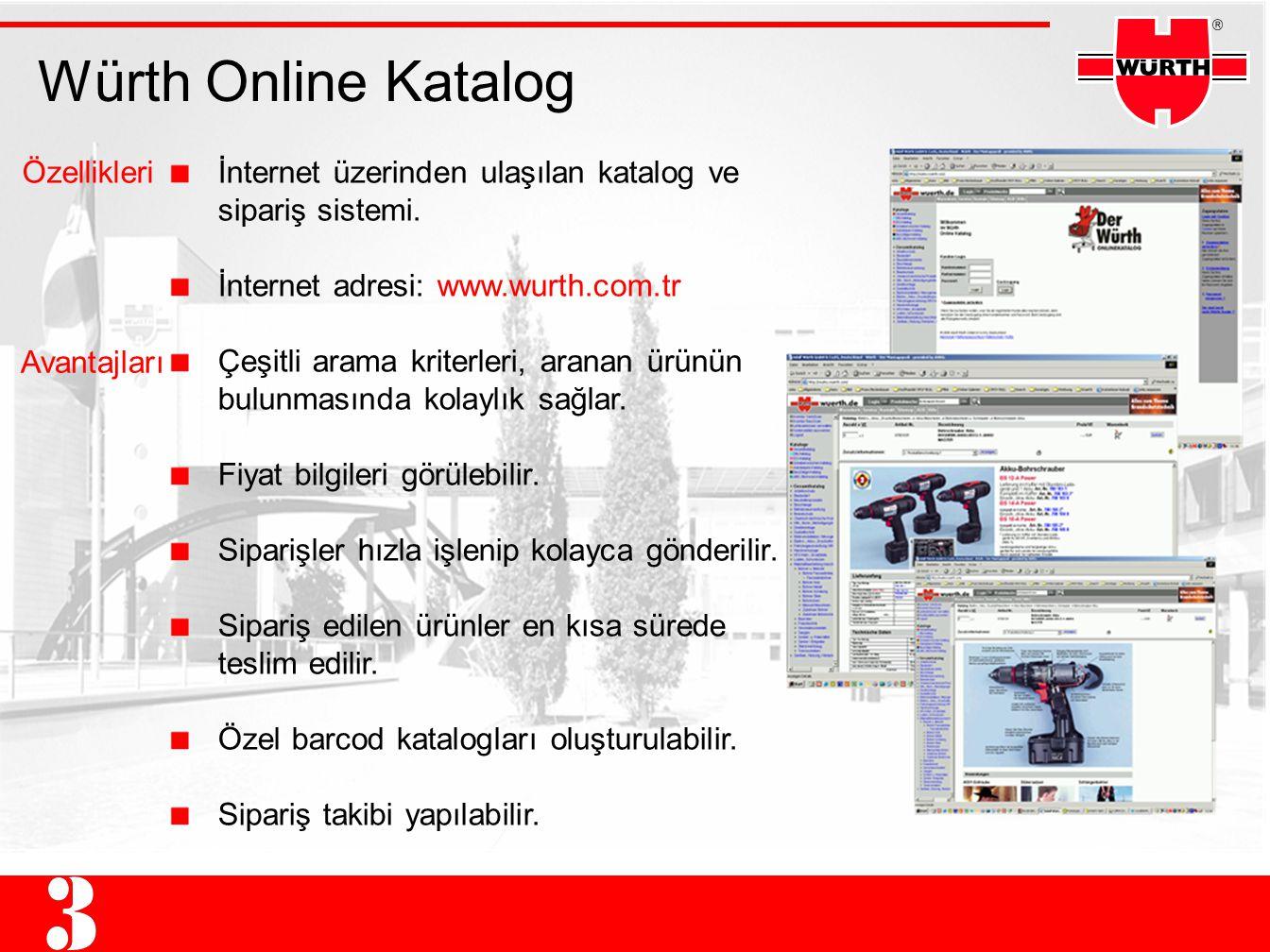 Würth Online Katalog Özellikleri