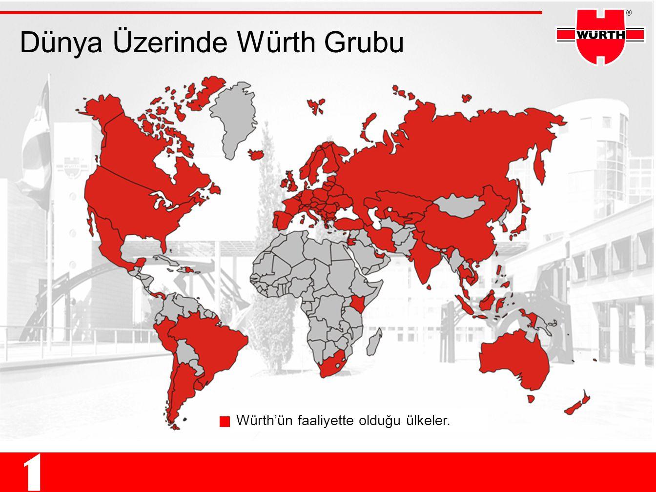 Dünya Üzerinde Würth Grubu