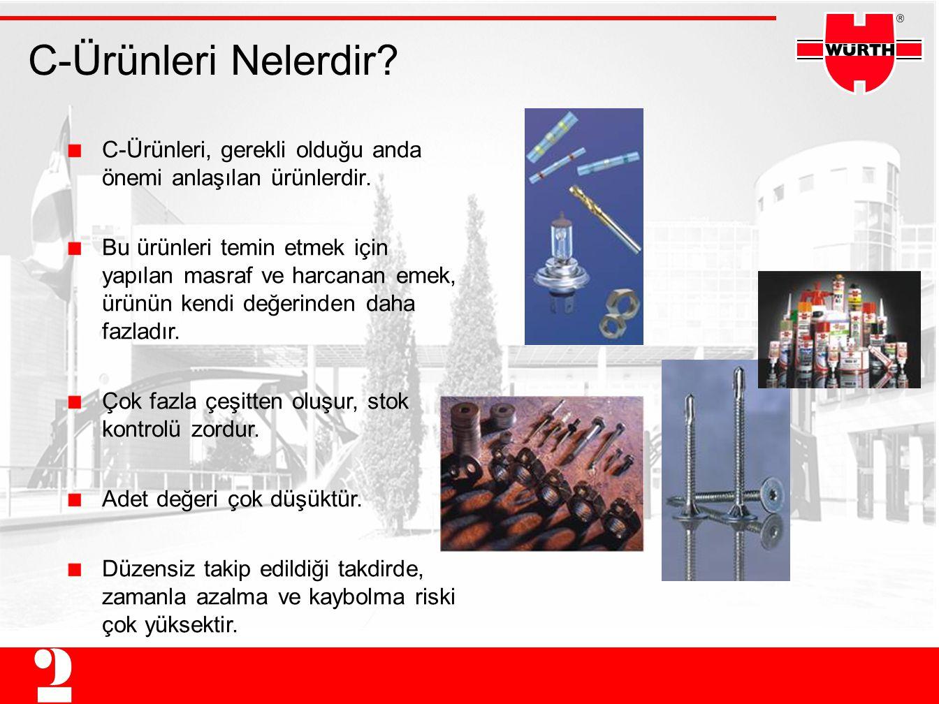 C-Ürünleri Nelerdir C-Ürünleri, gerekli olduğu anda önemi anlaşılan ürünlerdir.