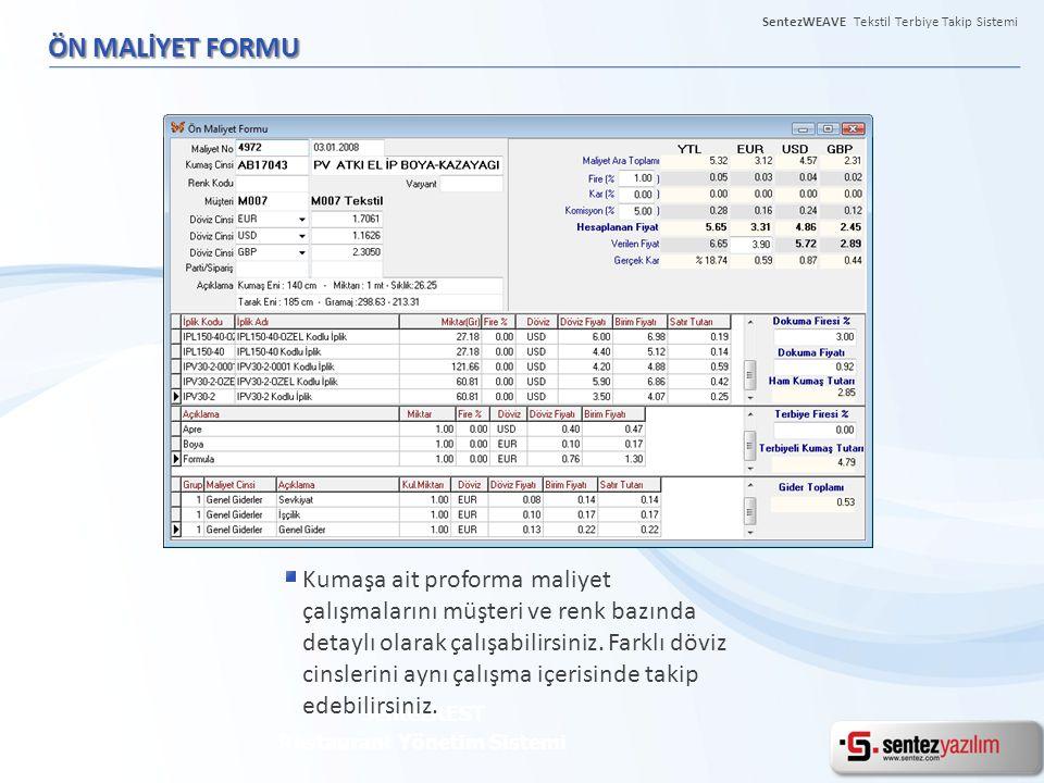 Restaurant Yönetim Sistemi