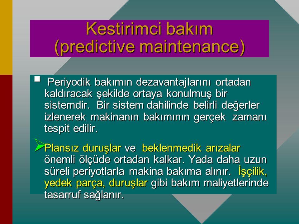 Kestirimci bakım (predictive maintenance)