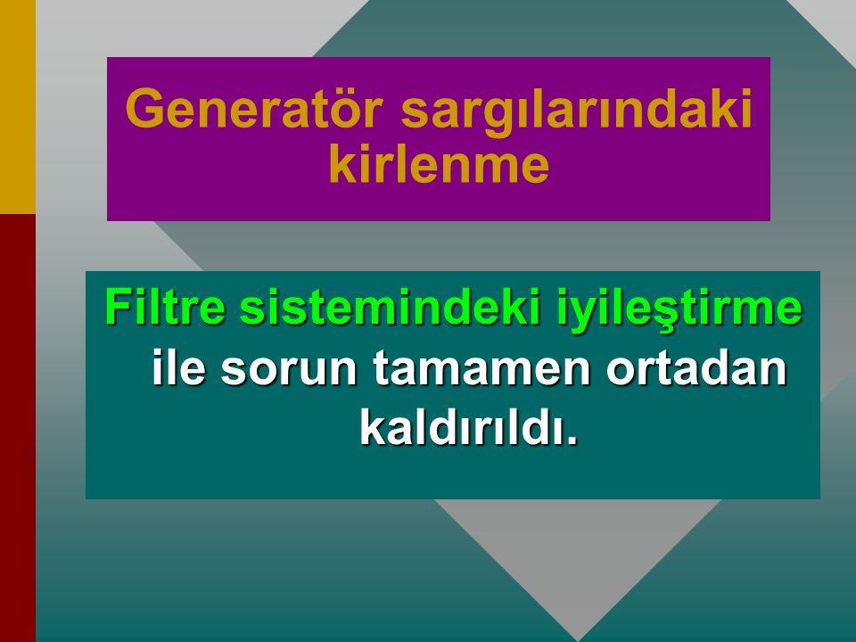 Generatör sargılarındaki kirlenme