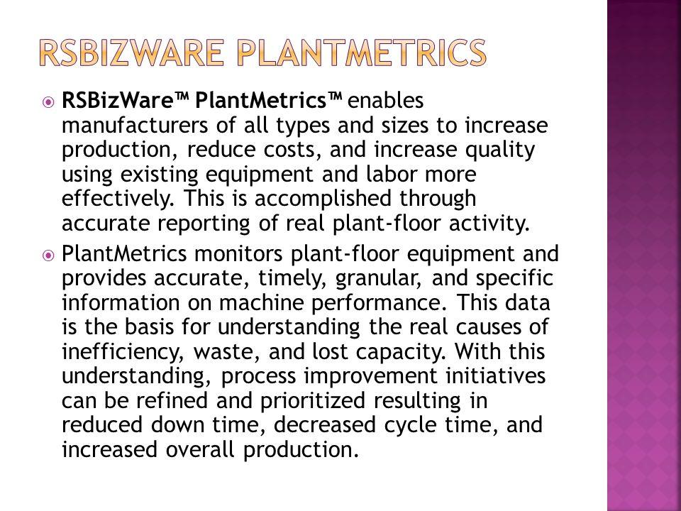 RSBizWare PlantMetrics