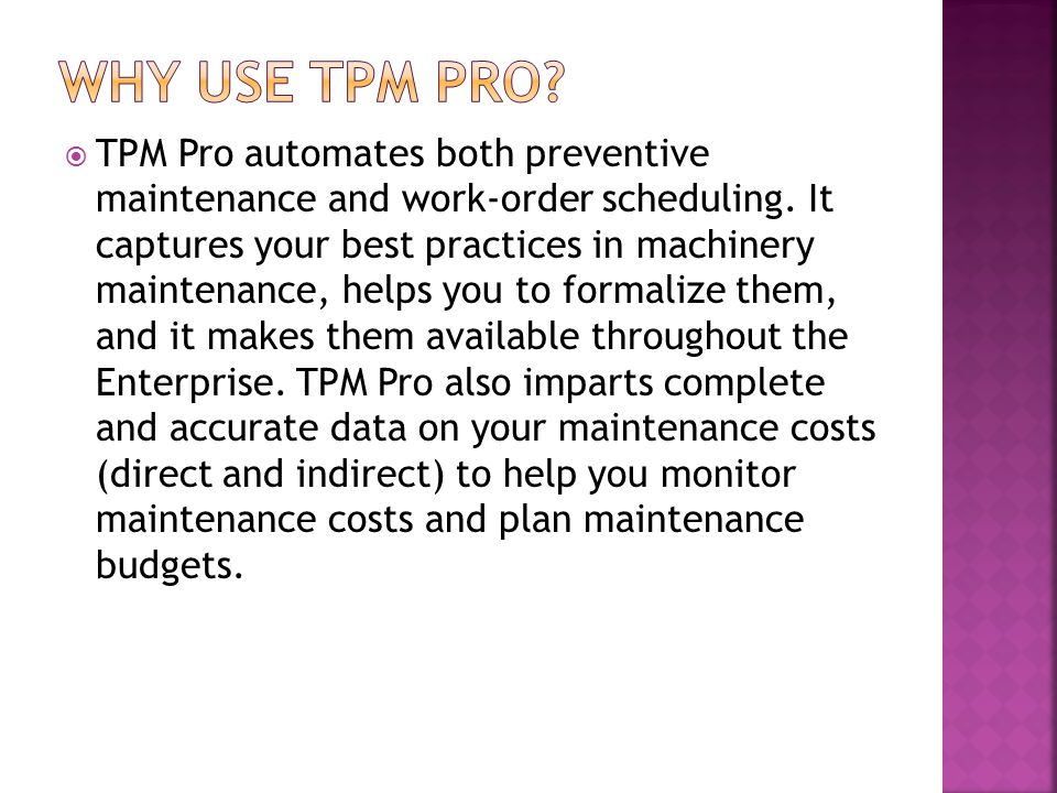 Why use TPM Pro