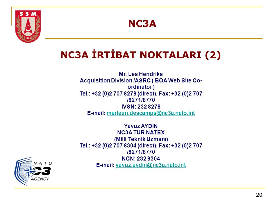 NC3A İRTİBAT NOKTALARI (2)