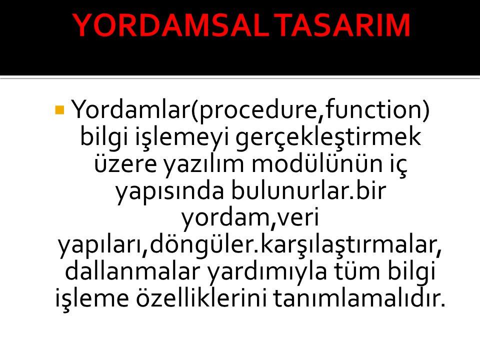 YORDAMSAL TASARIM