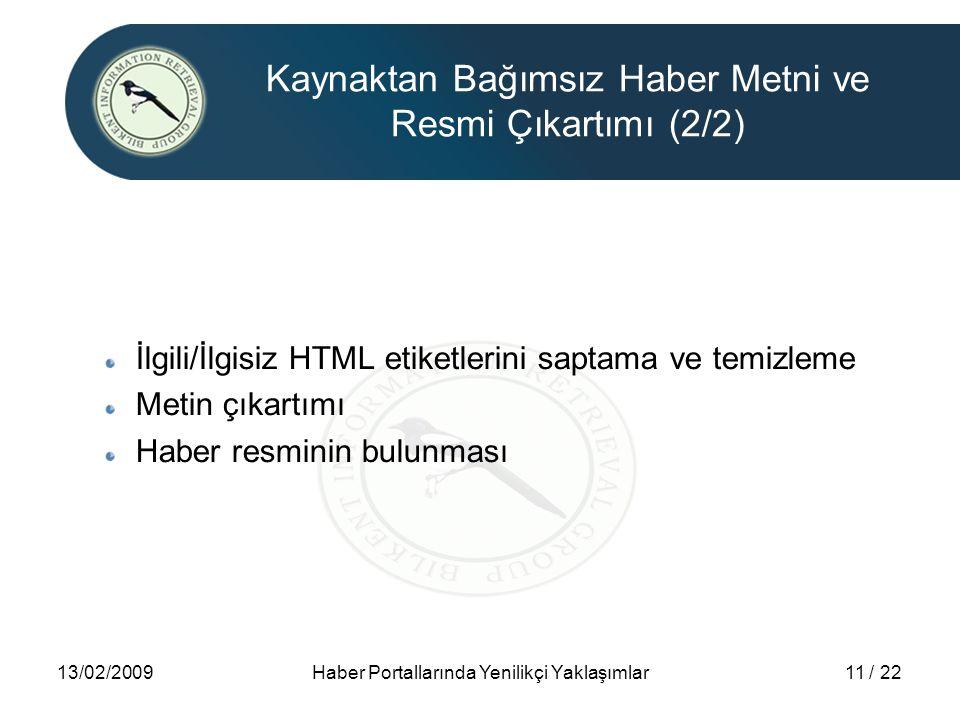 Kaynaktan Bağımsız Haber Metni ve Resmi Çıkartımı (2/2)