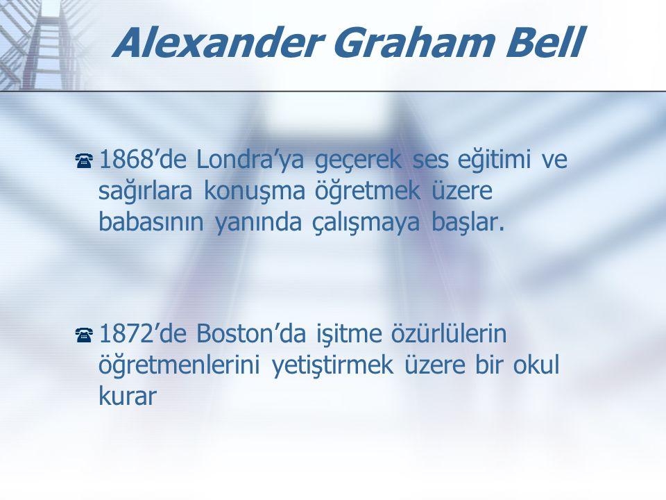 Alexander Graham Bell 1868'de Londra'ya geçerek ses eğitimi ve sağırlara konuşma öğretmek üzere babasının yanında çalışmaya başlar.
