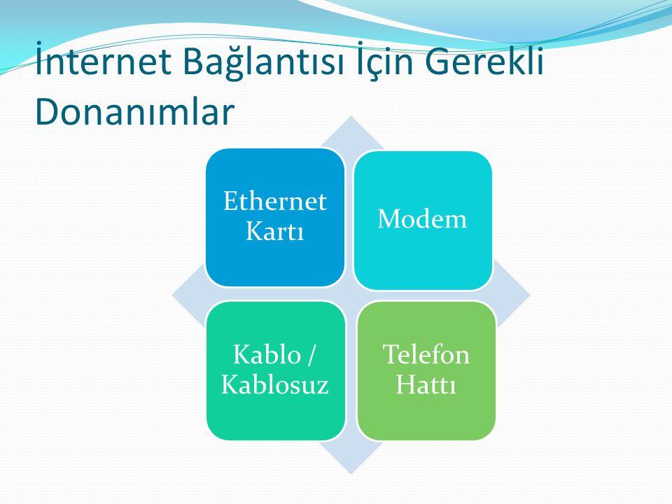 İnternet Bağlantısı İçin Gerekli Donanımlar
