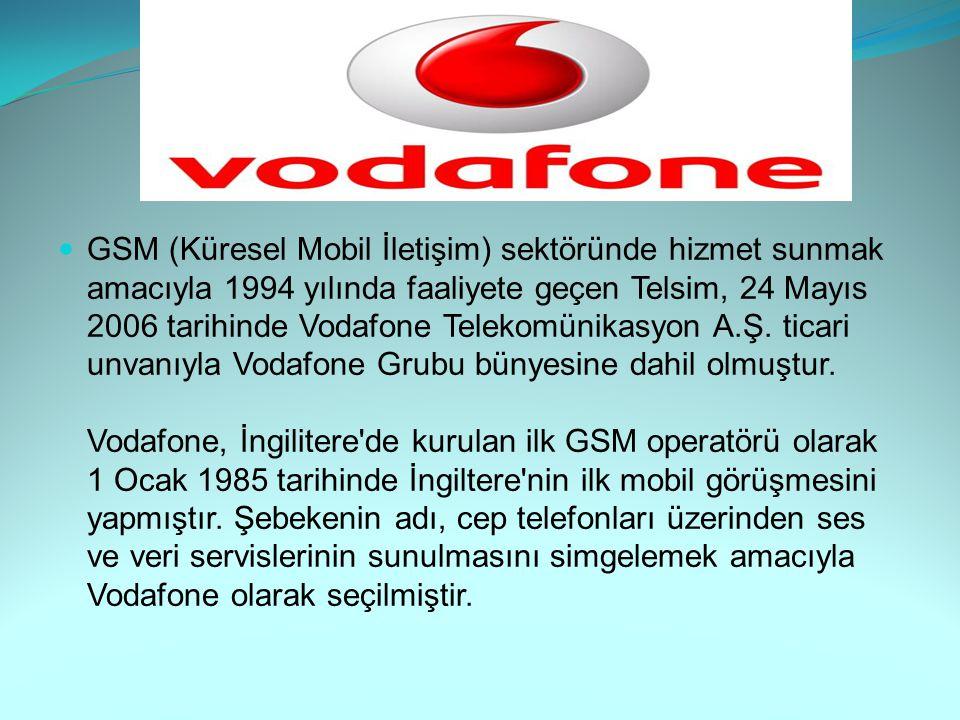 GSM (Küresel Mobil İletişim) sektöründe hizmet sunmak amacıyla 1994 yılında faaliyete geçen Telsim, 24 Mayıs 2006 tarihinde Vodafone Telekomünikasyon A.Ş.