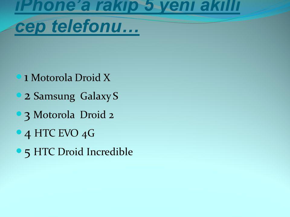 iPhone'a rakip 5 yeni akıllı cep telefonu…