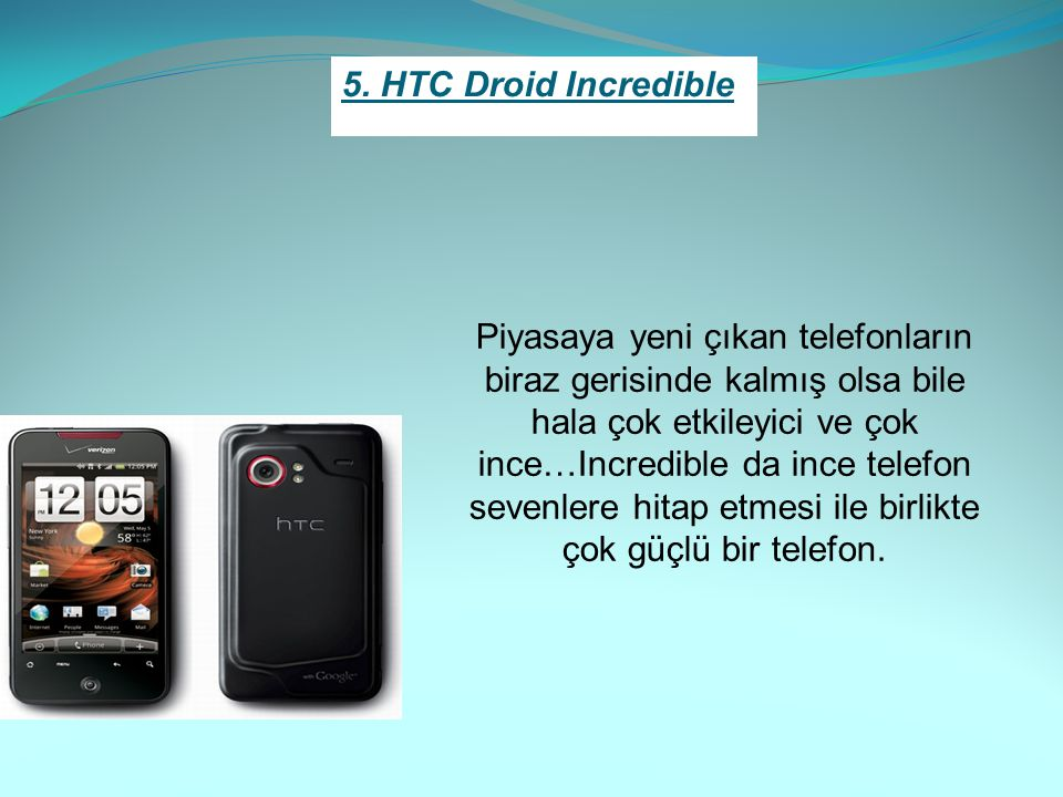 5. HTC Droid Incredible
