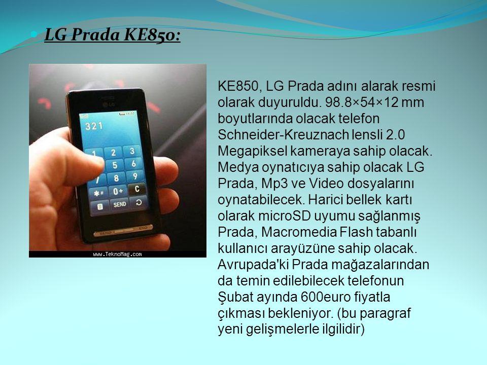 LG Prada KE850: