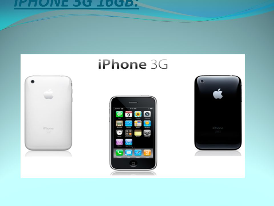 İPHONE 3G 16GB: