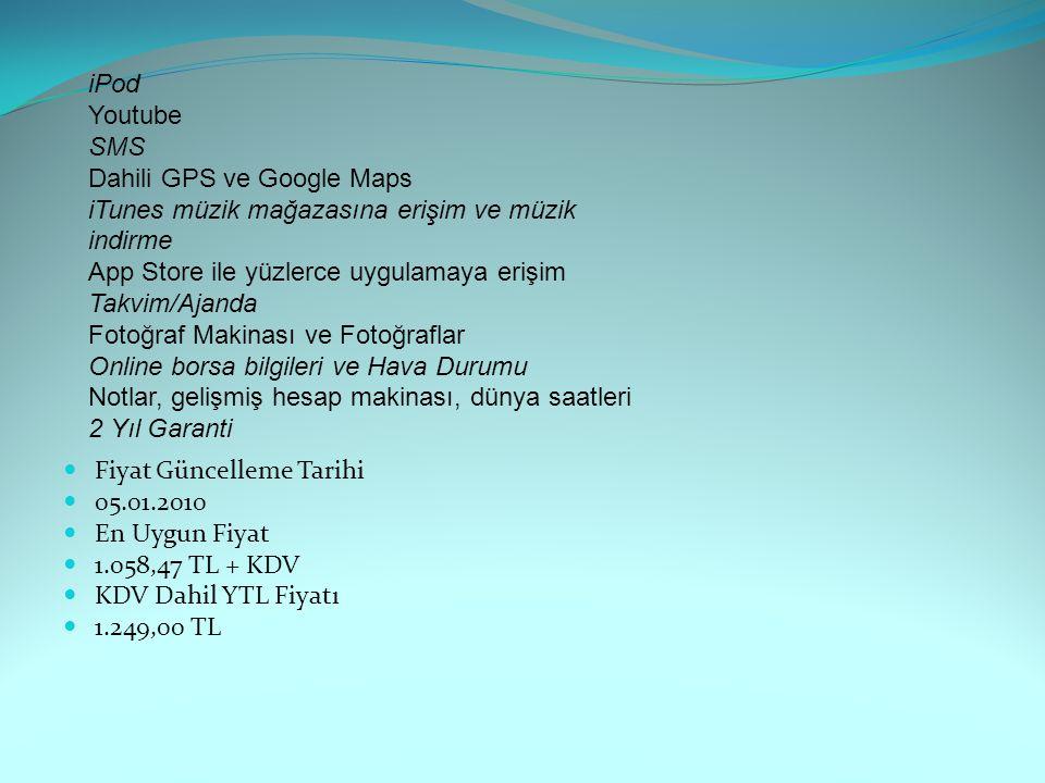 Dahili GPS ve Google Maps