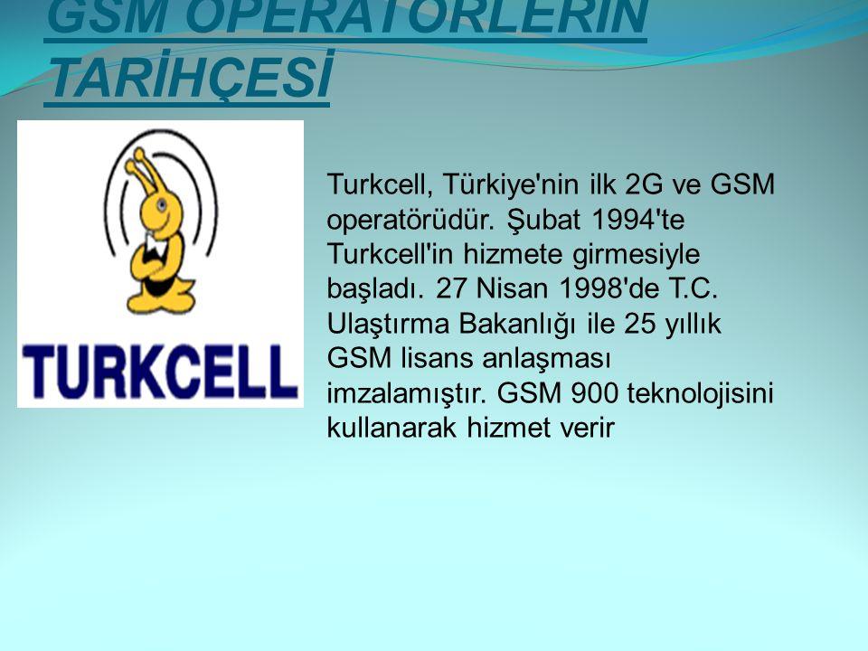 GSM OPERATÖRLERİN TARİHÇESİ