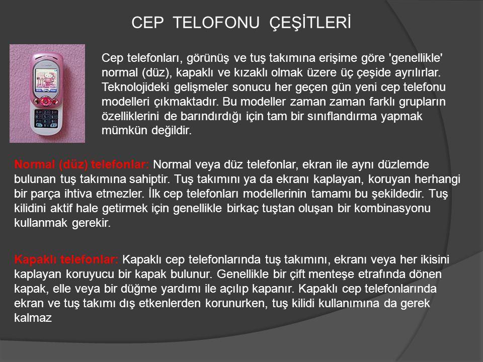 CEP TELOFONU ÇEŞİTLERİ
