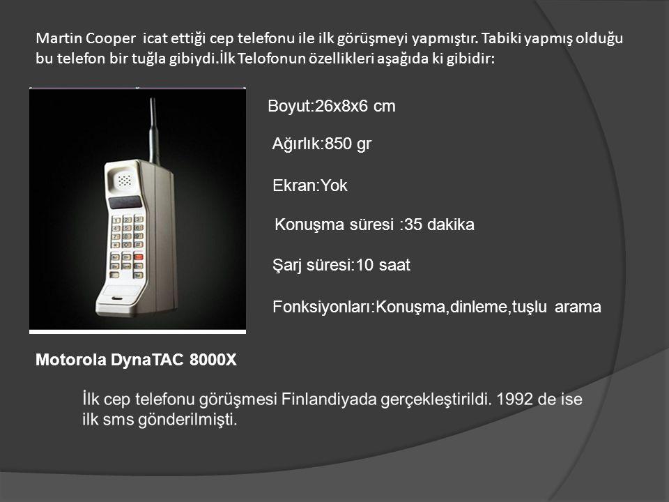 Martin Cooper icat ettiği cep telefonu ile ilk görüşmeyi yapmıştır