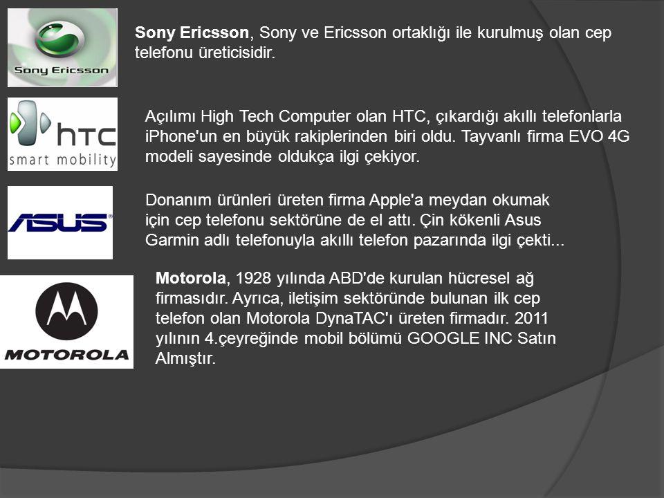 Sony Ericsson, Sony ve Ericsson ortaklığı ile kurulmuş olan cep telefonu üreticisidir.