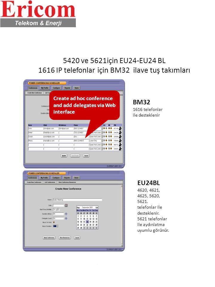 5420 ve 5621için EU24-EU24 BL 1616 IP telefonlar için BM32 ilave tuş takımları