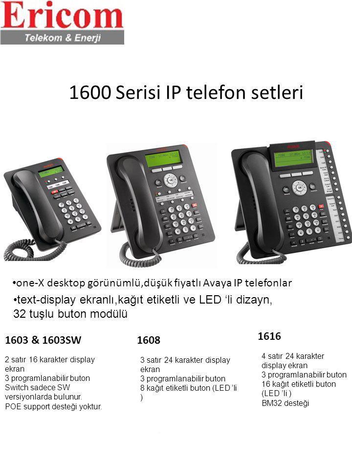 1600 Serisi IP telefon setleri