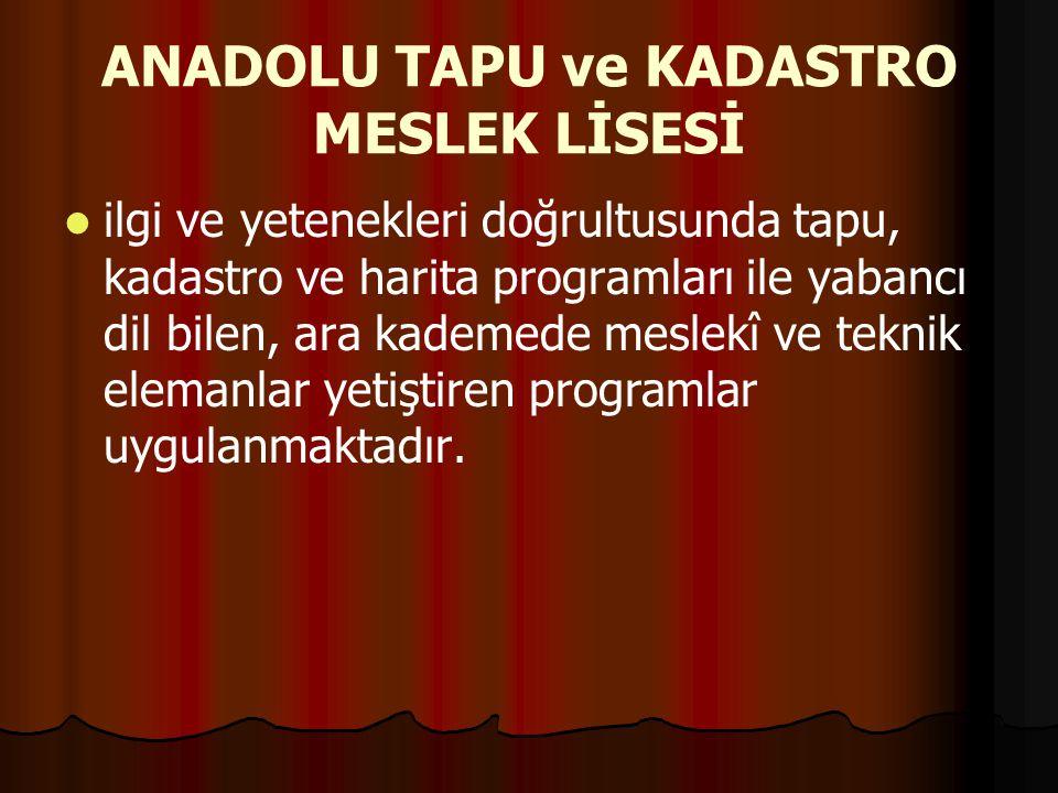ANADOLU TAPU ve KADASTRO MESLEK LİSESİ
