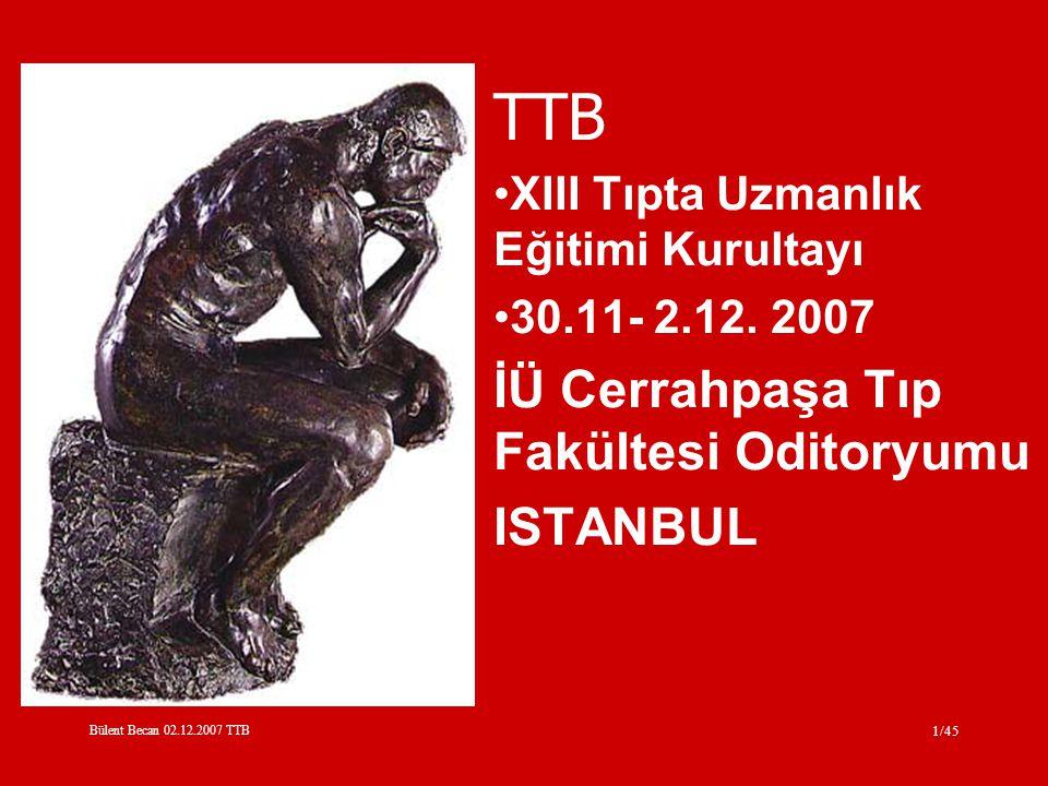 TTB İÜ Cerrahpaşa Tıp Fakültesi Oditoryumu ISTANBUL