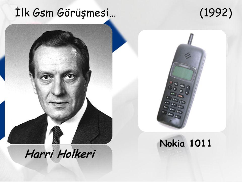 İlk Gsm Görüşmesi… (1992) Nokia 1011 Harri Holkeri