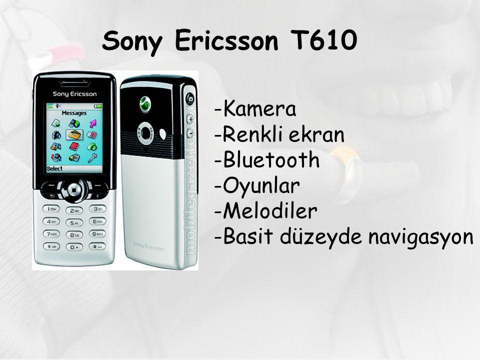 Sony Ericsson T610 -Kamera -Renkli ekran -Bluetooth -Oyunlar