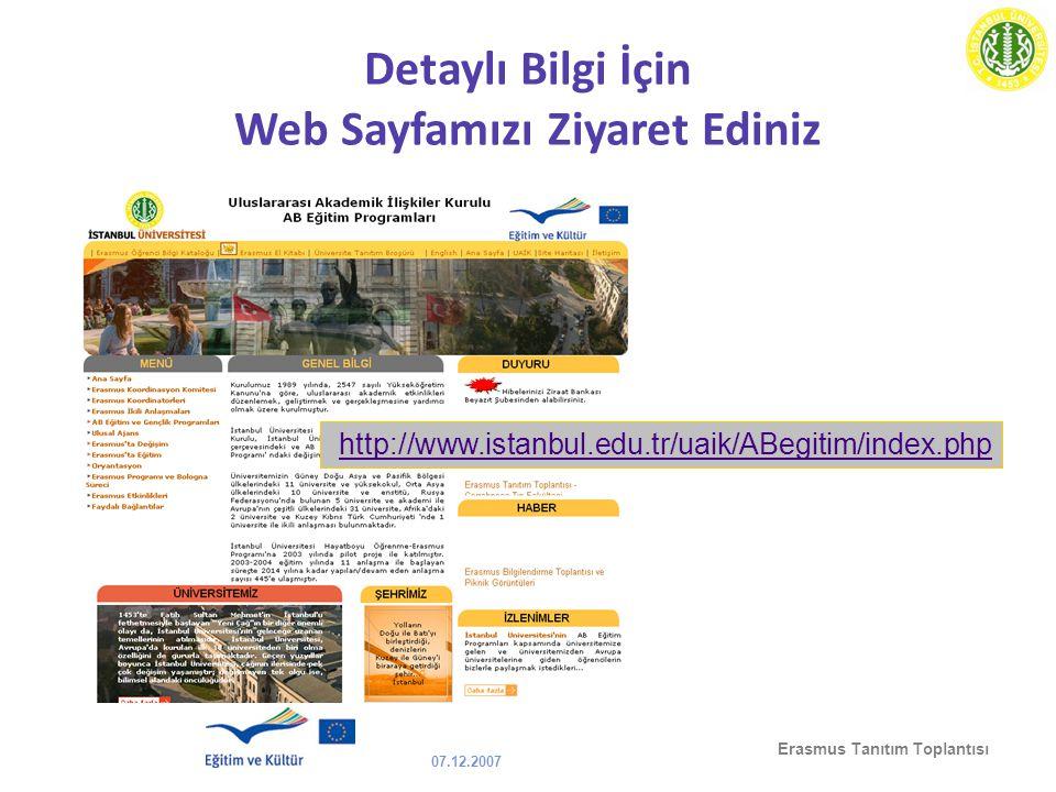 Detaylı Bilgi İçin Web Sayfamızı Ziyaret Ediniz