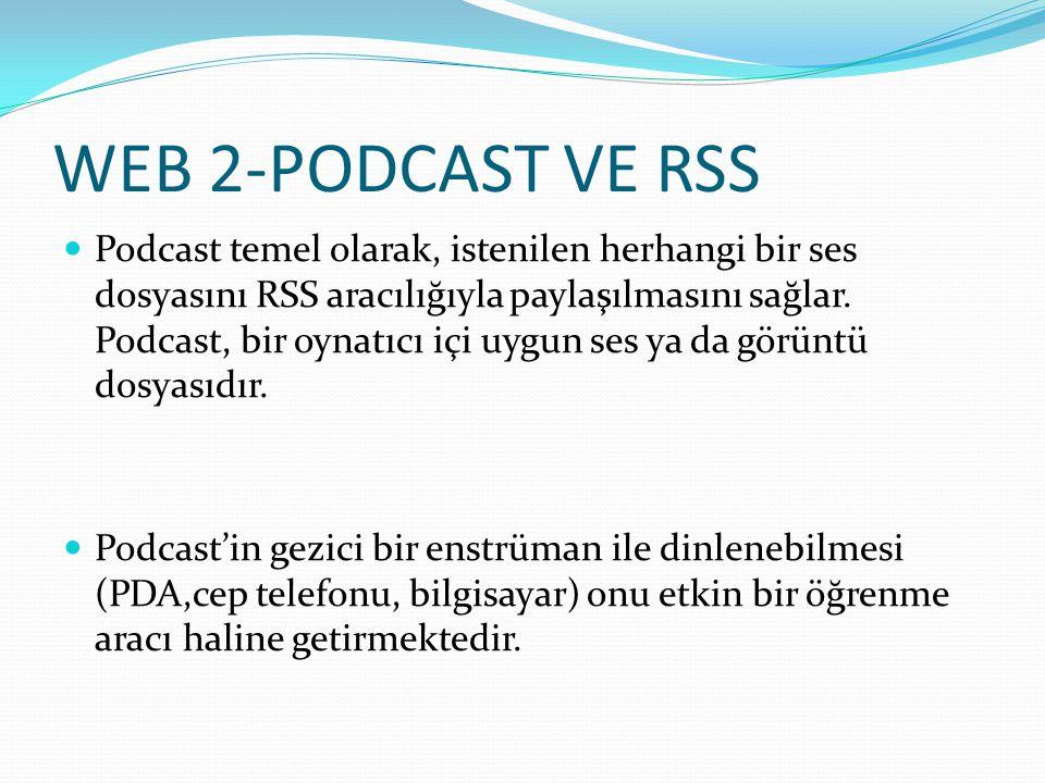 WEB 2-PODCAST VE RSS