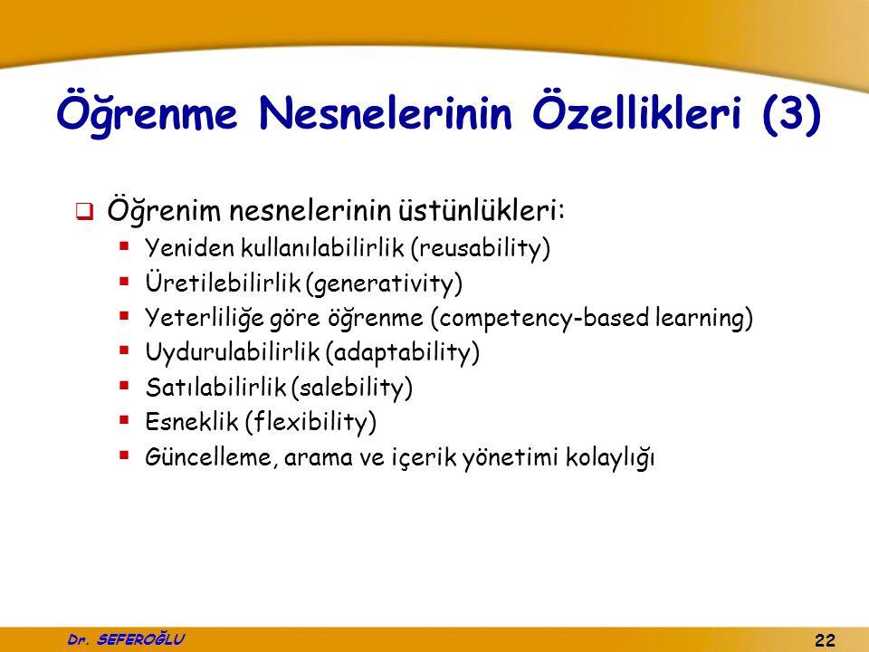 Öğrenme Nesnelerinin Özellikleri (3)