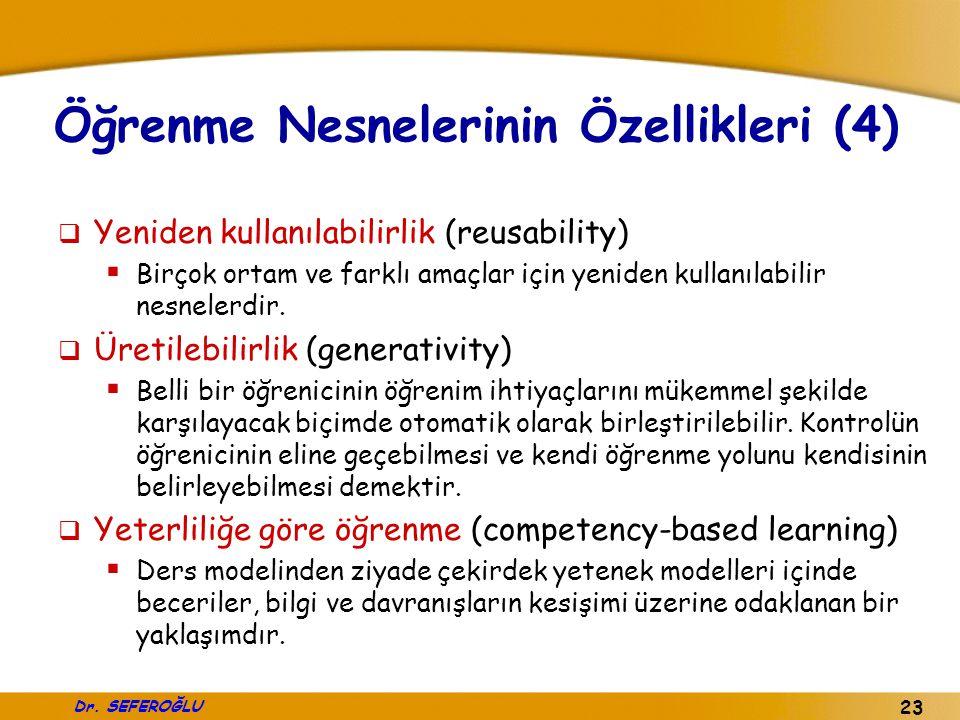 Öğrenme Nesnelerinin Özellikleri (4)
