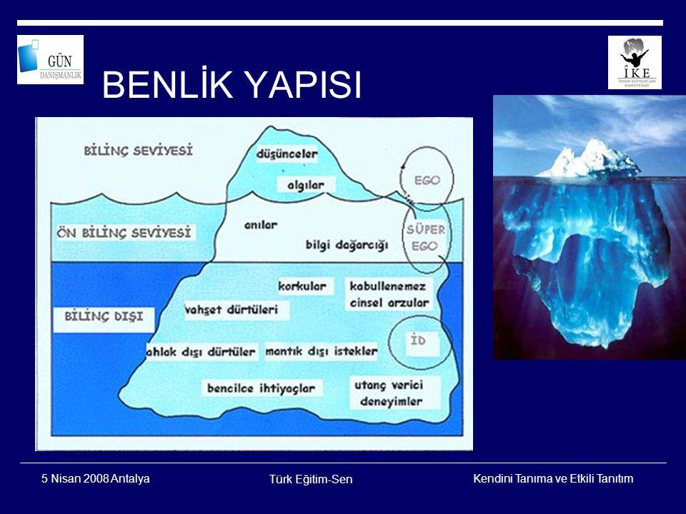 BENLİK YAPISI 5 Nisan 2008 Antalya Türk Eğitim-Sen