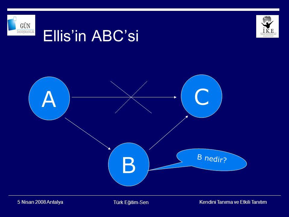 Ellis'in ABC'si C A B B nedir 5 Nisan 2008 Antalya Türk Eğitim-Sen