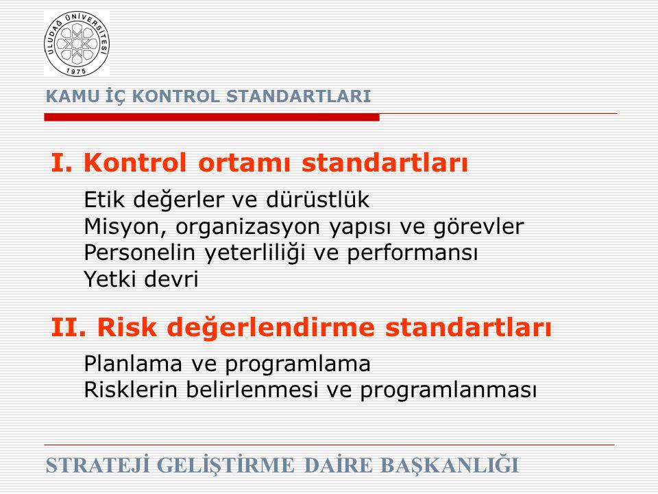 I. Kontrol ortamı standartları
