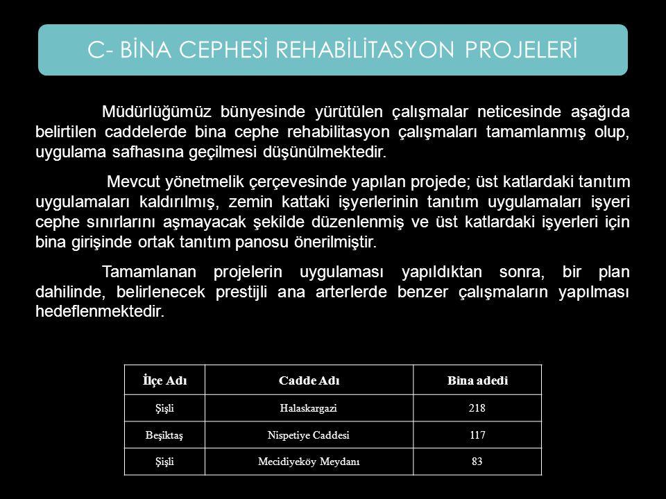 C- BİNA CEPHESİ REHABİLİTASYON PROJELERİ