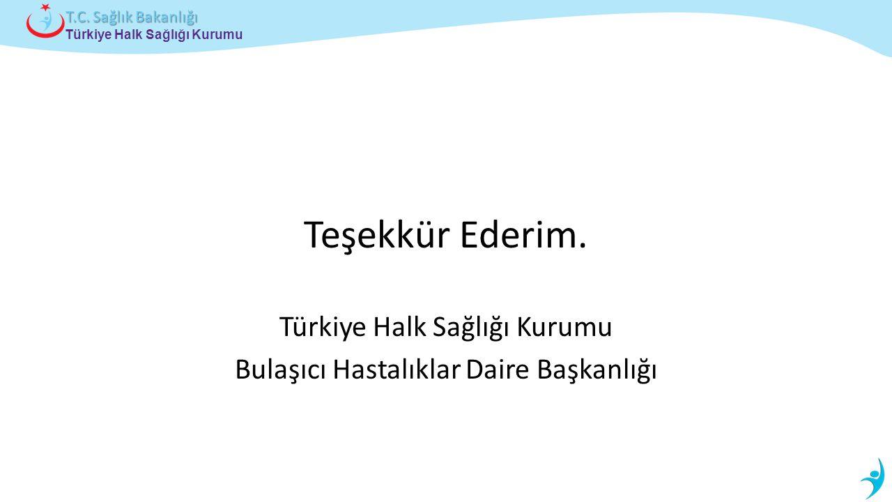 Teşekkür Ederim. Türkiye Halk Sağlığı Kurumu