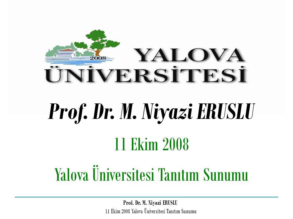 Yalova Üniversitesi Tanıtım Sunumu