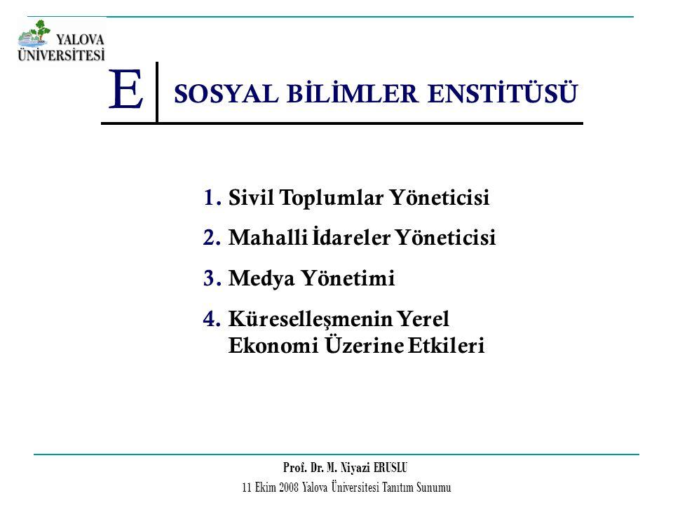 SOSYAL BİLİMLER ENSTİTÜSÜ