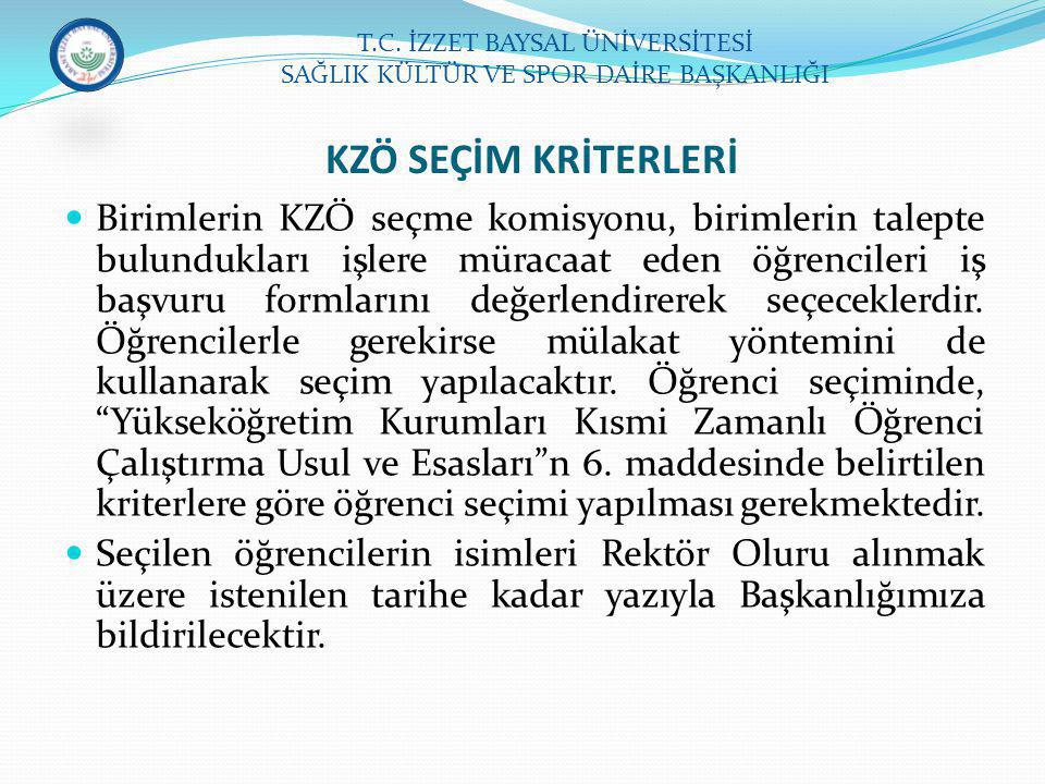 T.C. İZZET BAYSAL ÜNİVERSİTESİ