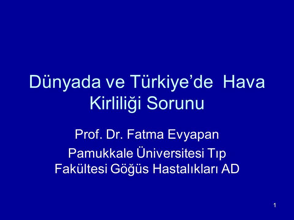 Dünyada ve Türkiye'de Hava Kirliliği Sorunu