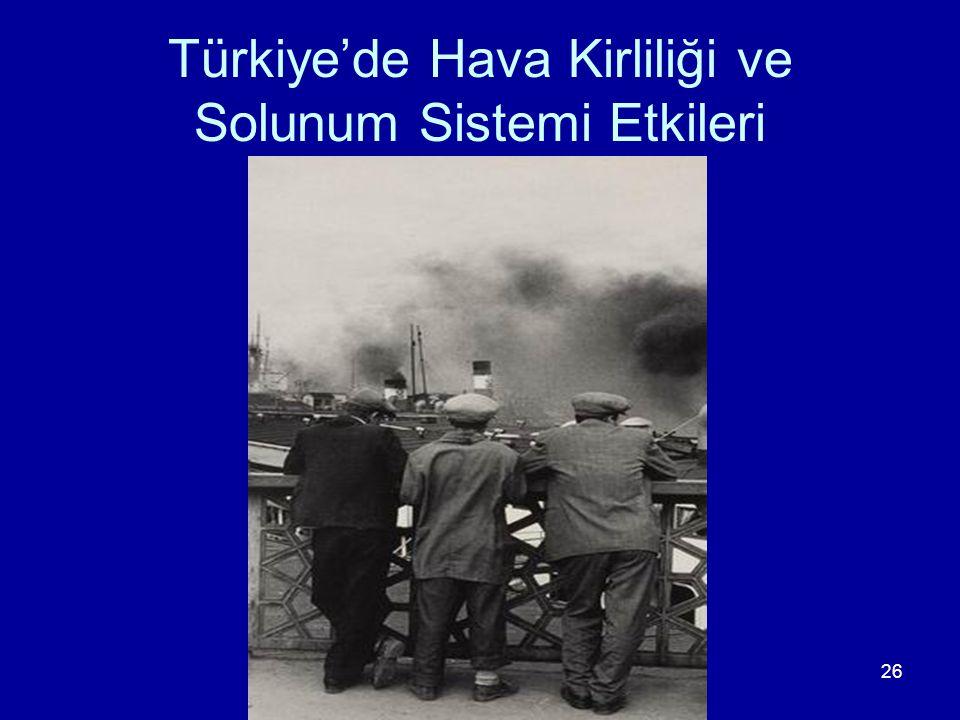 Türkiye'de Hava Kirliliği ve Solunum Sistemi Etkileri
