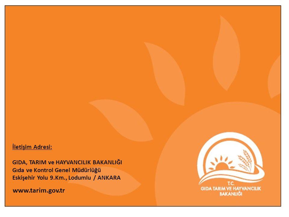www.tarim.gov.tr İletişim Adresi: