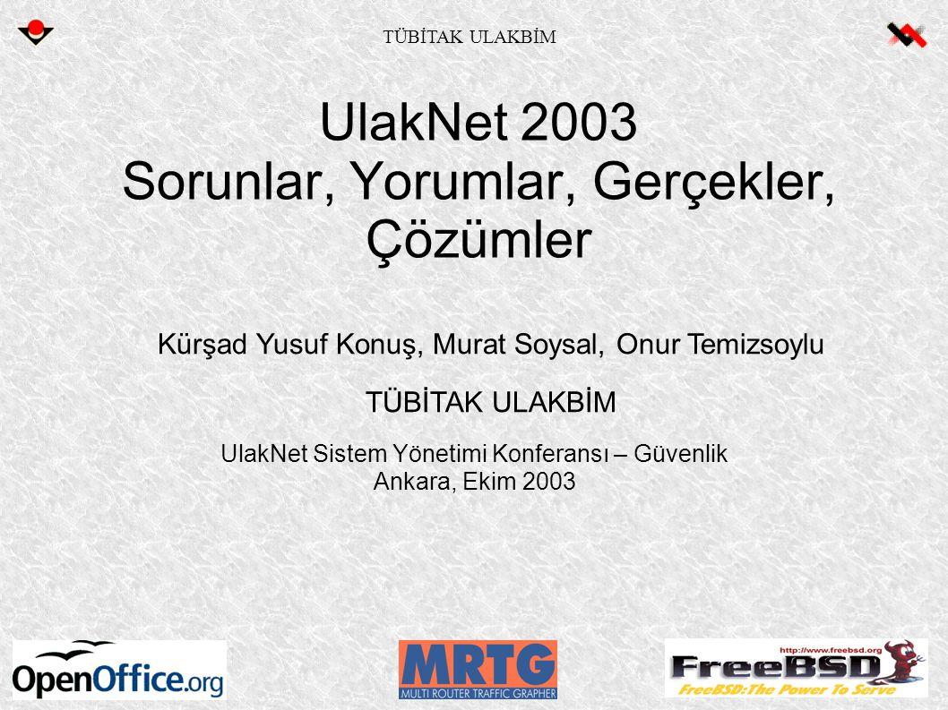 UlakNet 2003 Sorunlar, Yorumlar, Gerçekler, Çözümler