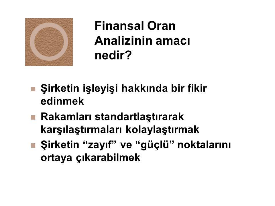 Finansal Oran Analizinin amacı nedir